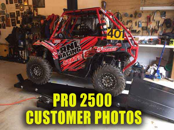 PRO 2500 ATV UTV Motorcycle Lift Customer Photos