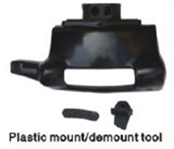 Plastic mount / demount tool for tire changer