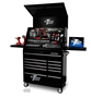 "Picture of Extreme 41"" Deluxe Portable Workstation + 11 Drawer 24"" Deep Rollcab PWSRC4129TX"