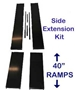 "Side extension kits include 40"" ramps"