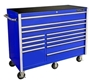 "rollcabs.com CRX552512RC 55"" 12 DRAWER BLUE ROLLING TOOL CABINET"