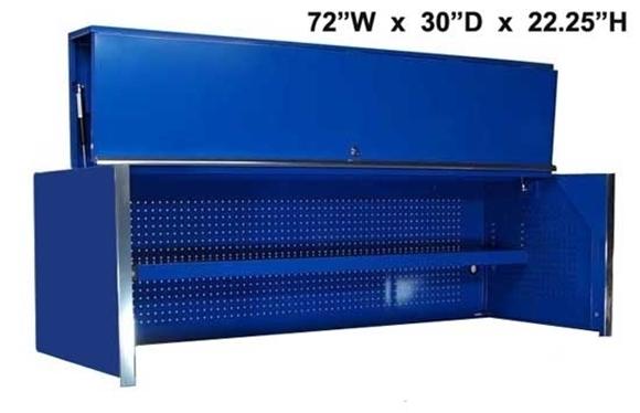 "Blue Top Hutch 72"" x 30"""